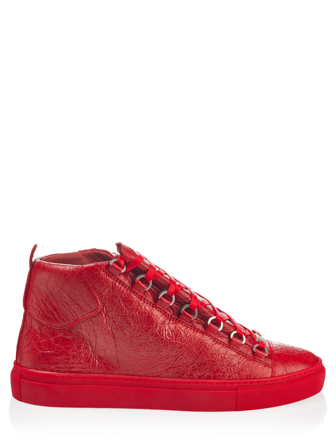 Balenciaga Arena Rouge Leather Sneakers