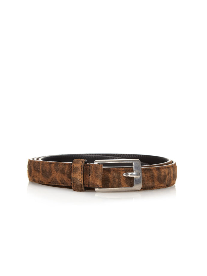Saint Laurent Brown Print Belt