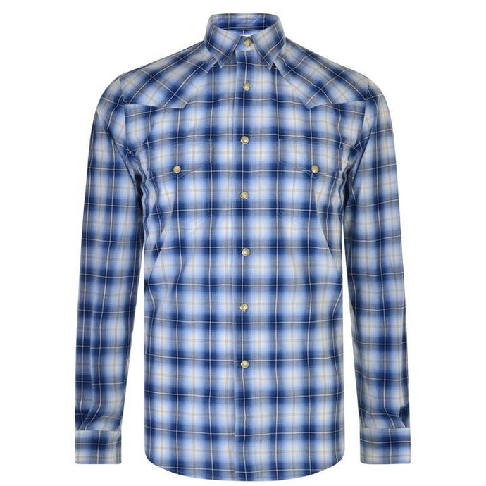 Saint Laurent Blue Check Western Shirt