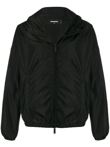 Dsquared2 Black ICON Logo Waterproof Jacket