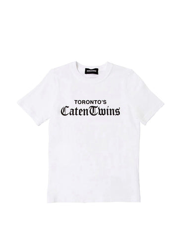 Dsquared2 White Caten Twins T-shirt