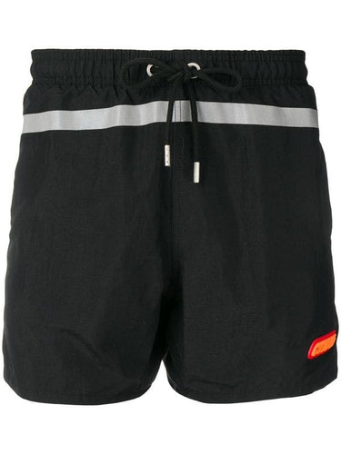Heron Preston Black Reflective Swim Shorts