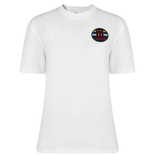 Alexander McQueen White Embroidered Badge T-shirt