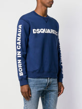 Dsquared2 Blue Logo Print Sweater