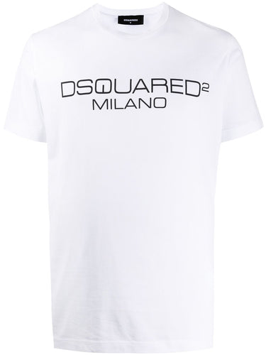 Dsquared2 Milano White Logo T-shirt