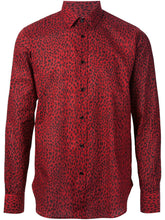 Saint Laurent Red Animal Print Shirt