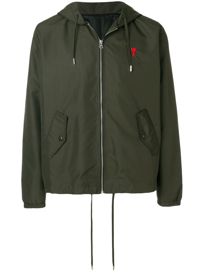 Ami Paris Khaki Windbreaker Jacket