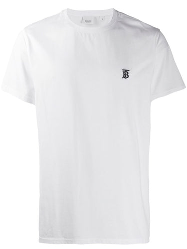 Burberry White Monogram Motif T-shirt