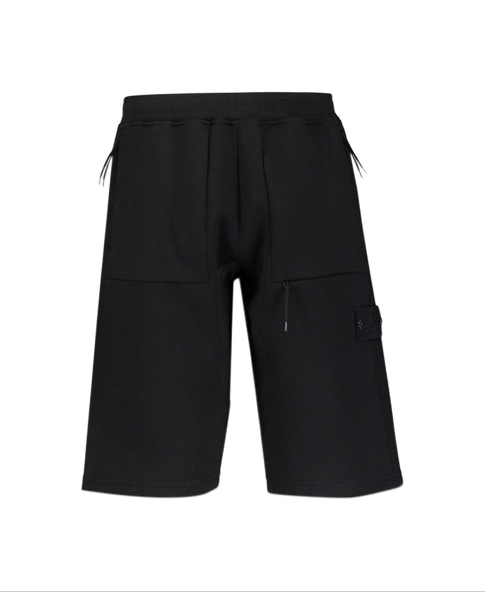 Stone Island Black Ghost Fleece Shorts