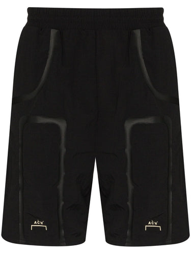 A Cold Wall Black Logo Print Track Shorts