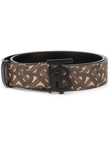 Burberry Brown Monogram Print Belt
