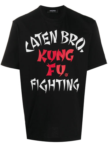 Dsquared2 Black Kung Fu Fighting T-shirt