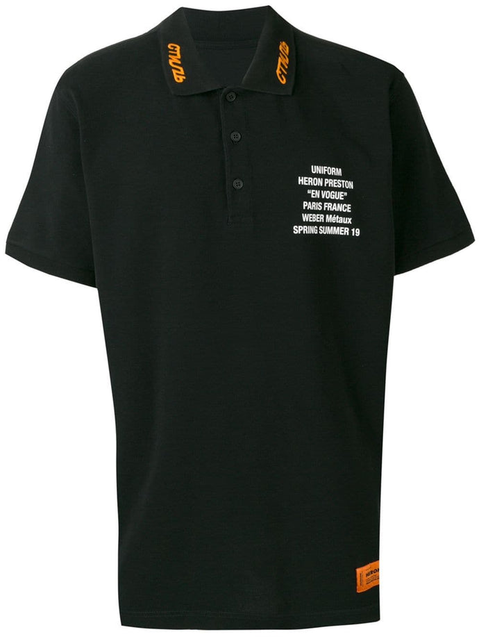 Heron Preston Black Uniform Polo Shirt