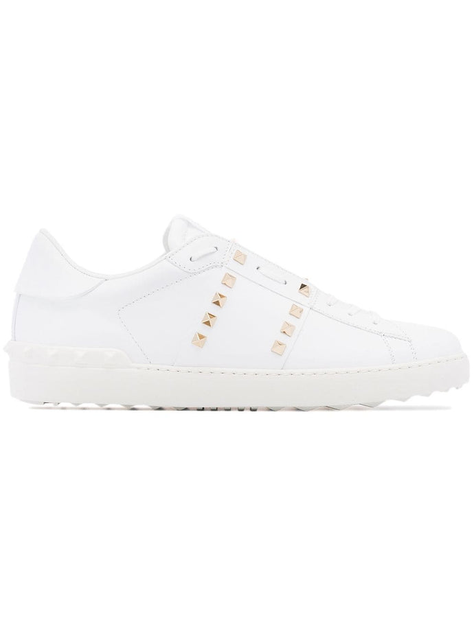 Valentino 11 White Rockstud Sneakers