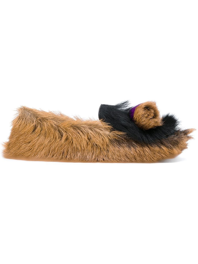 Prada Goat Fur Slippers