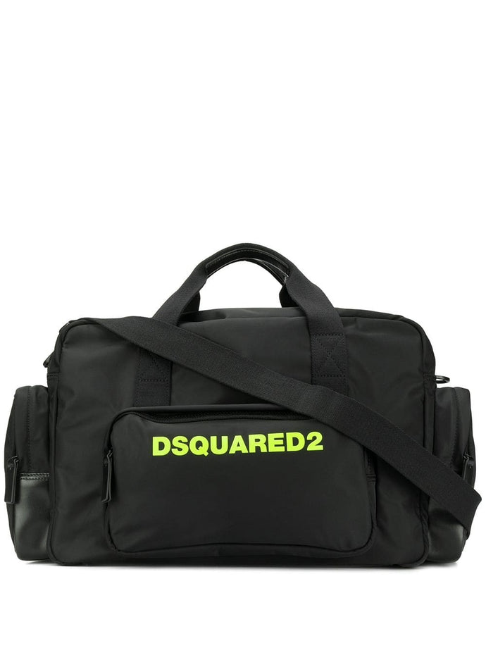 Dsquared2 Black Logo Printed Holdall