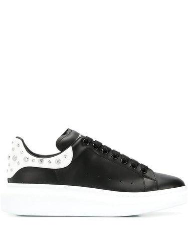 Alexander McQueen Black Studded Oversized Sneakers