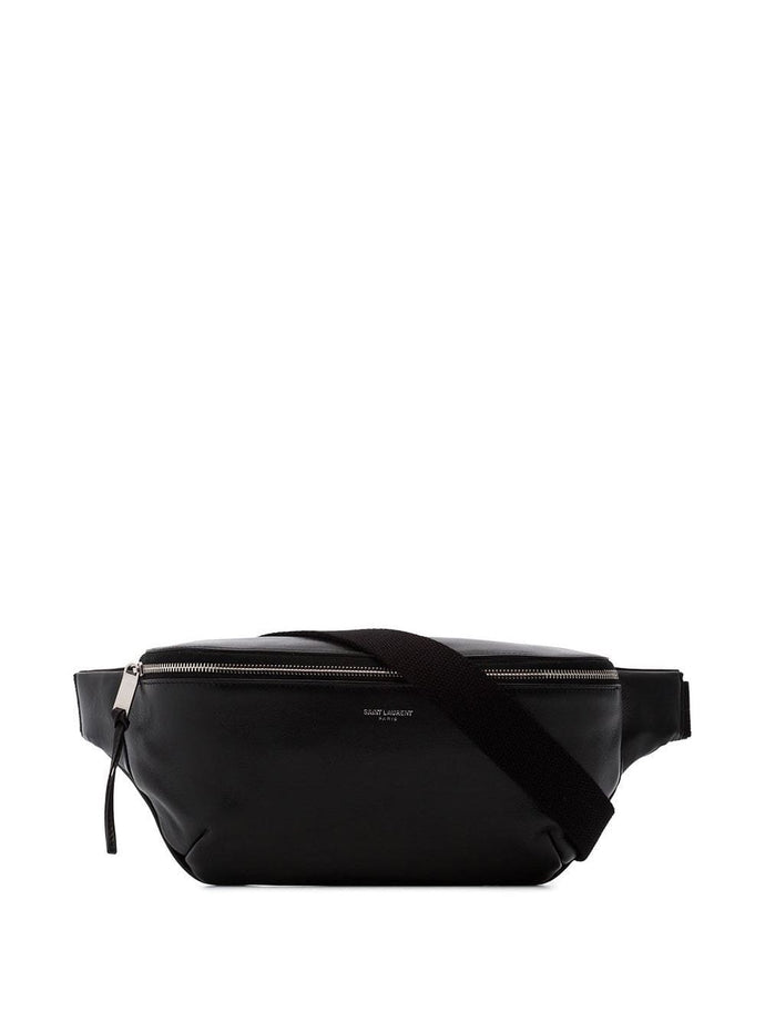 Saint Laurent Black Leather Waist Bag