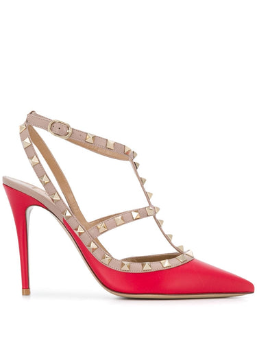 Valentino Rockstud Caged 100mm Heels