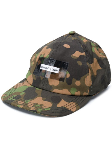 Off White Camouflage Baseball Cap