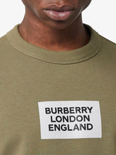 Burberry Dark Moss Logo Print Farlow Sweater