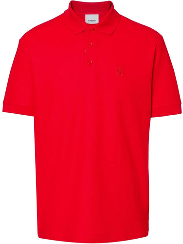 Burberry Red Monogram Motif Polo Shirt