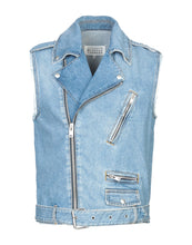 Margiela Sleeveless Denim Biker Jacket