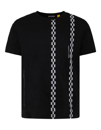 7 Moncler Fragment Black Checkered T-shirt