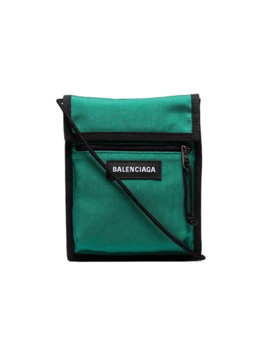 Balenciaga Green Explorer Pouch Bag