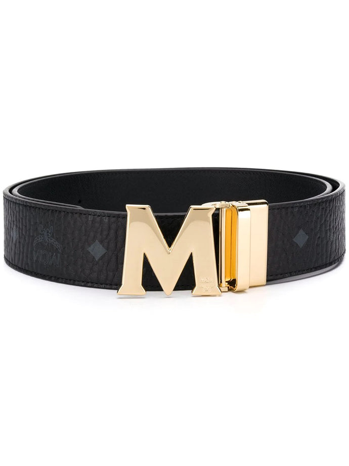 MCM Black Claus M Reversible Belt