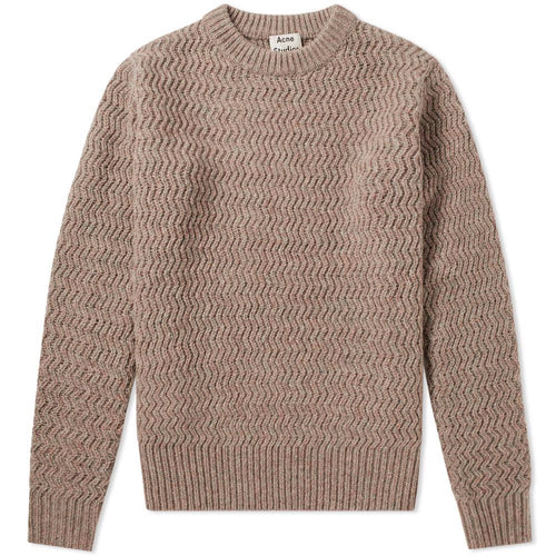 Acne Studios Pink Wool Nyle Herringbone Sweater