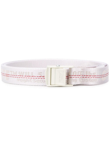 Off White White Industrial Belt