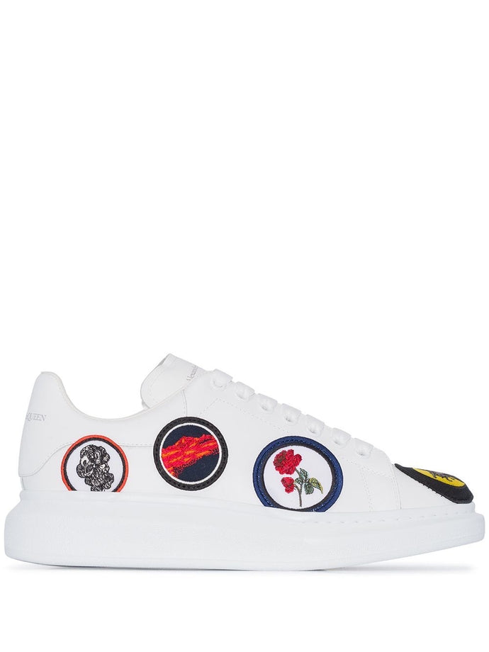 Alexander McQueen White Badge Oversized Sneakers
