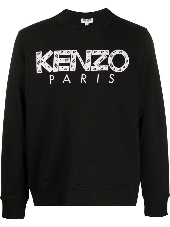 Kenzo Black Embroidered Logo Sweater