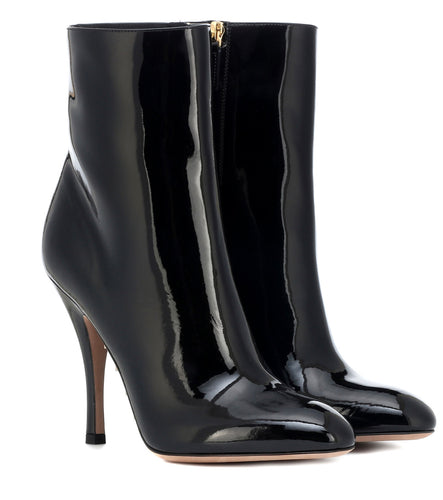 Valentino Killer Stud Black Patent Leather Boot Heels