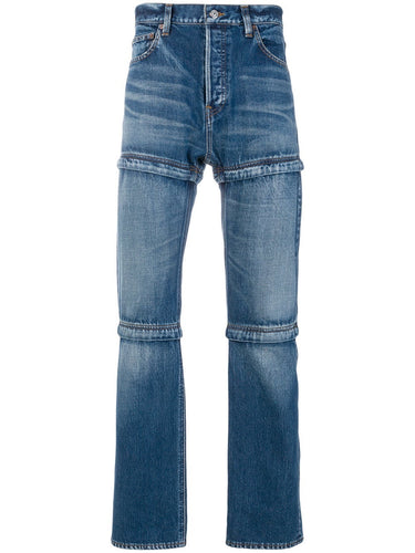 Balenciaga Blue Zipped Denim Jeans
