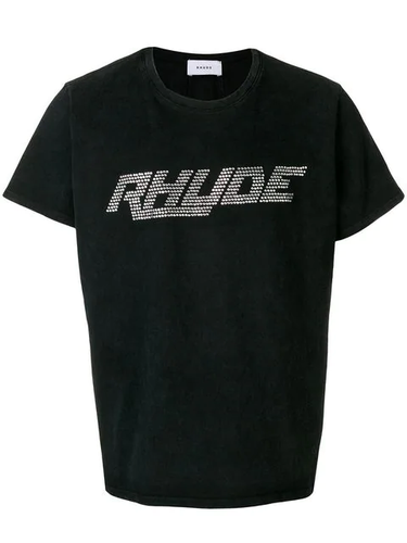Rhude Washed Black Rhinestone T-shirt