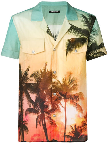 Balmain Palm Tree Shirt