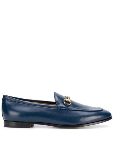 Gucci Navy Jordan Leather Loafers