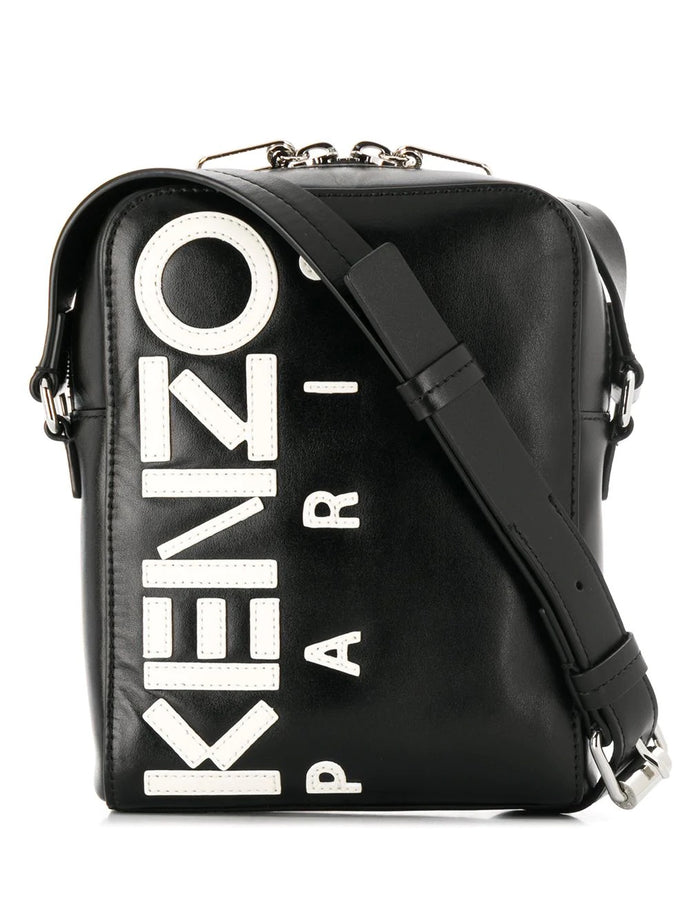Kenzo Black Leather Logo Bag