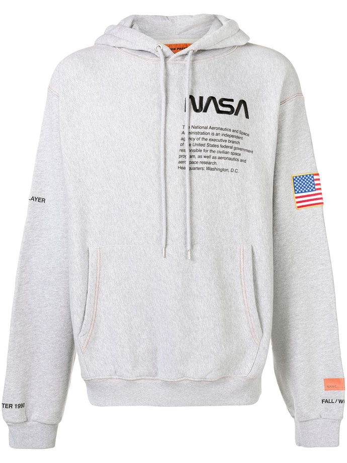 Heron Preston Grey NASA Hoodie