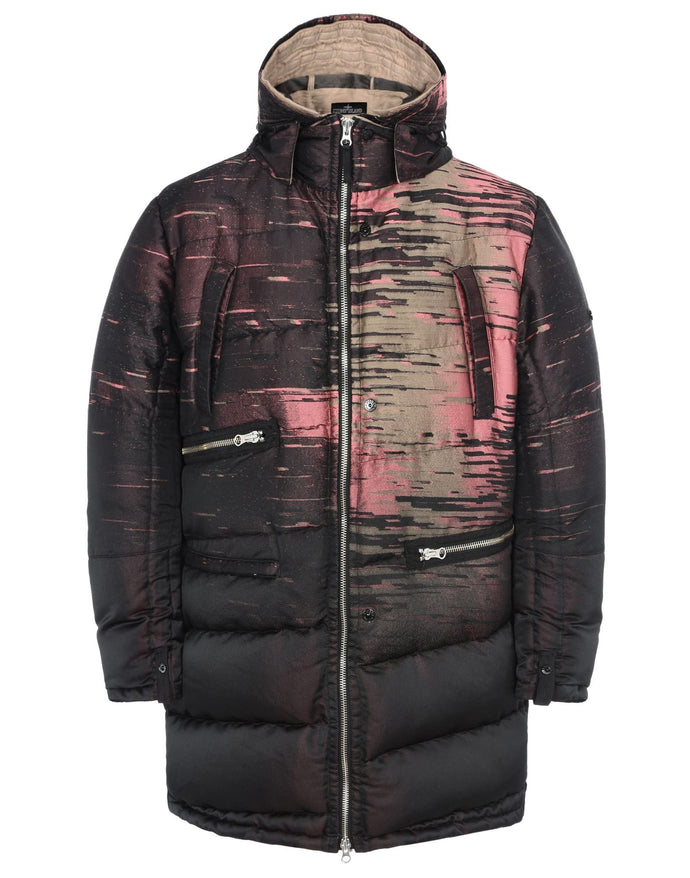 Stone Island Shadow Project Static Print Jacquard Parka Jacket