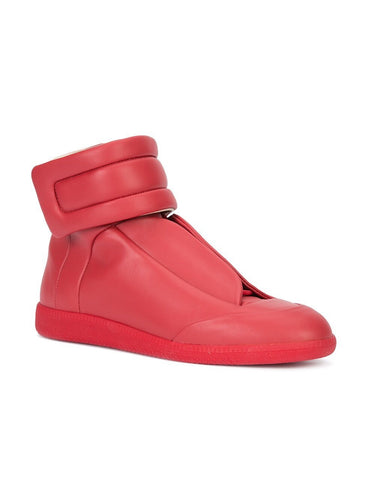 Margiela Red Future High Sneakers