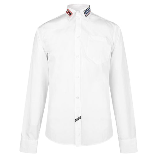 Givenchy White Rubber Logo Shirt