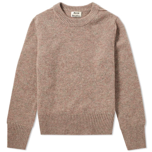 Acne Studios Dusty Pink Kai Shetland Wool Knit Sweater