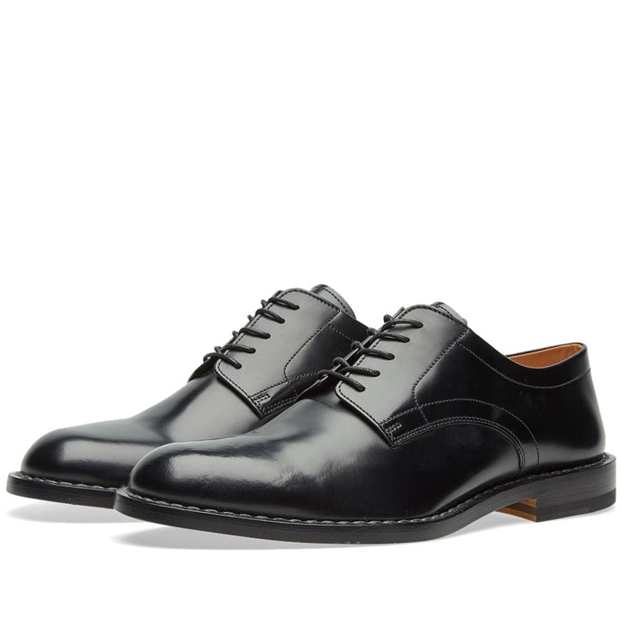 Margiela Black Shine Leather Derby Shoe