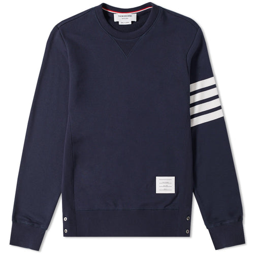 Thom Browne Navy 4 Bar Sweater
