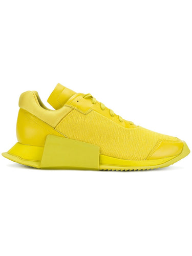 Adidas x Rick Owens Yellow Low Runner Sneakers