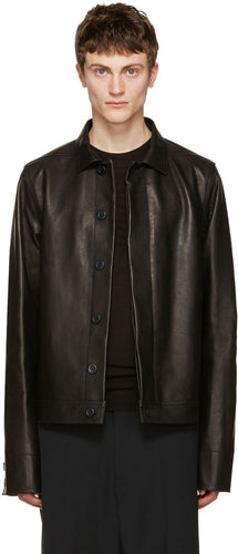 Rick Owens Brotherhood Leather Jacket