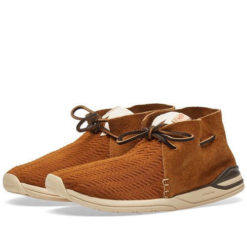 Visvim Brown Heron Mesh Folk Sneakers